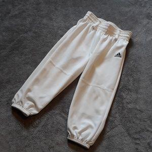 Adidas boys size XXS white baseball pants